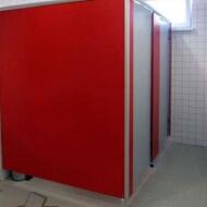 Туалетные перегородки на заводе «Карпатцемент», Тульская область