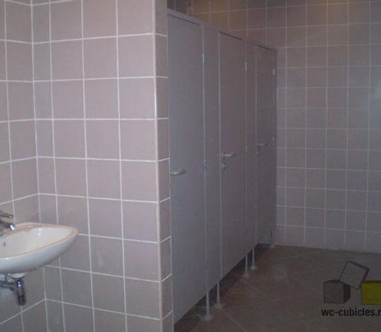 Сантехнические перегородки в московском офисе «Мосмарт»